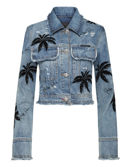 Denim Jacket Aloha Plein