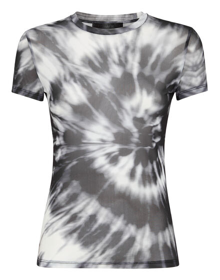 T-Shirt Round Neck SS Stretch Tulle Tie dye