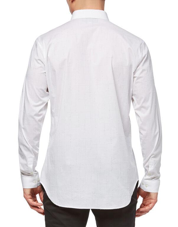 "Shirt Crystal cut LS ""Don`t be"""