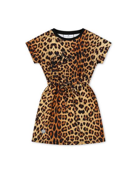 T-shirt Short Dresses Leopard