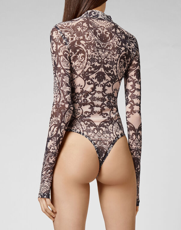Body Stretch Printed Tulle New Baroque