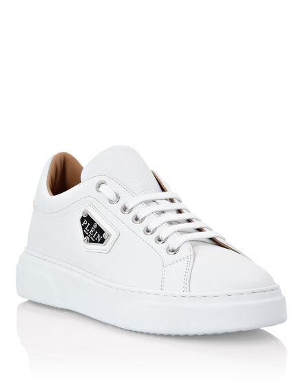 Leather Lo-Top Sneakers Iconic Plein