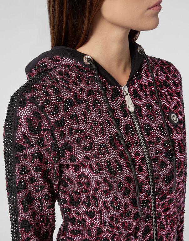 Hoodie Sweatjacket Pink paradise