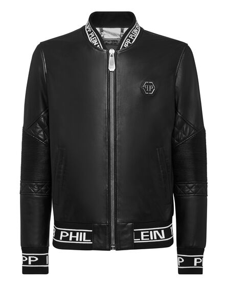 Leather Bomber Embroidery 3D PP1978