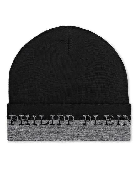 Wool Blend Hat Iconic Plein