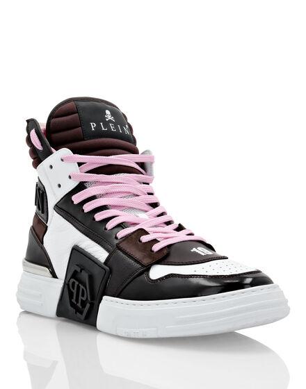 PHANTOM KICK$ Hi-Top Sneakers mix materials Hexagon