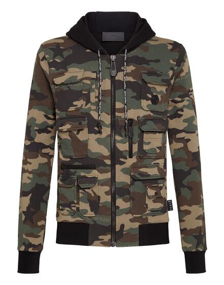 Hoodie Sweatjacket Army