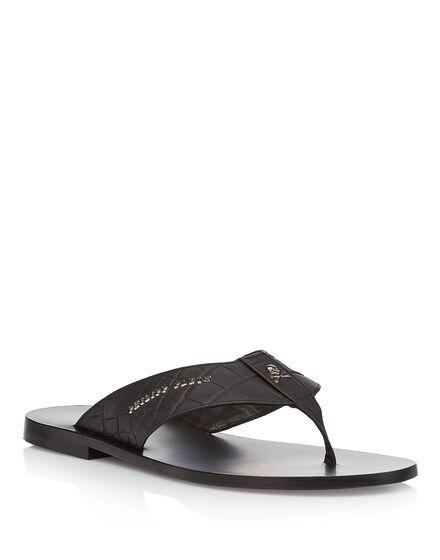 Sandals Flat you look happier