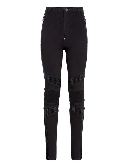Super High Waist Biker Crystal