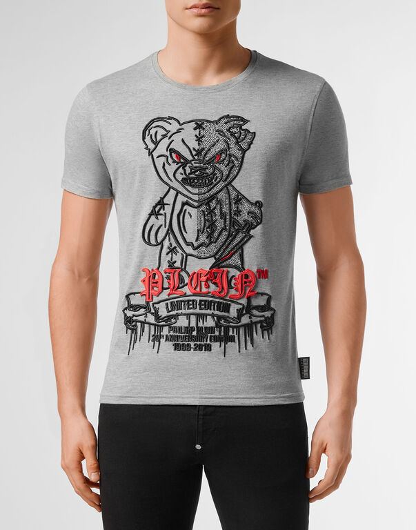 T-shirt Platinum Cut Round Neck Teddy Bear