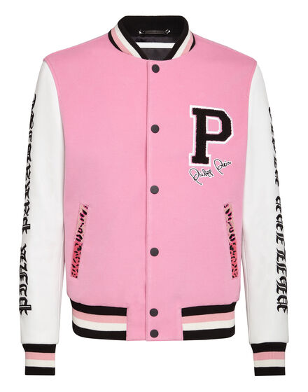 Leather Bomber Pink paradise