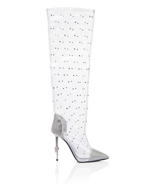 Boots High Heels High Crystal