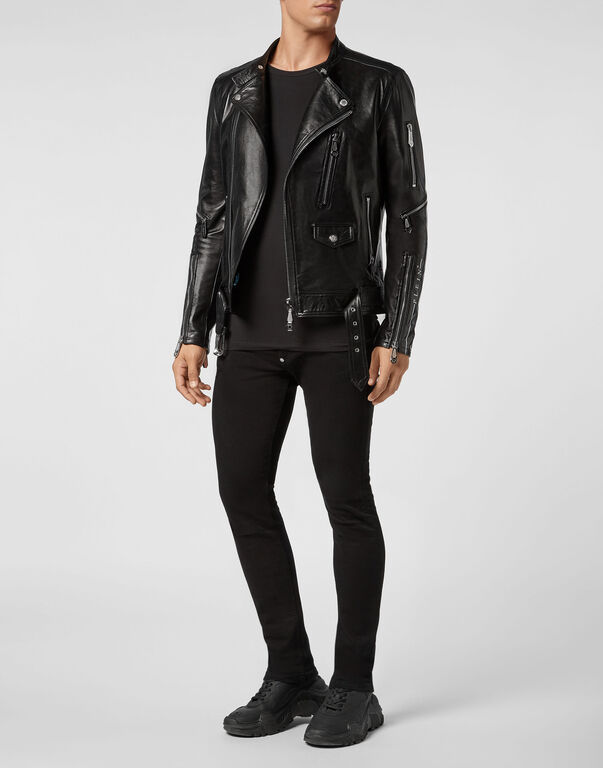 Leather Biker Zipped