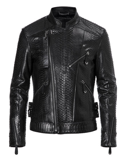 Leather Biker Python