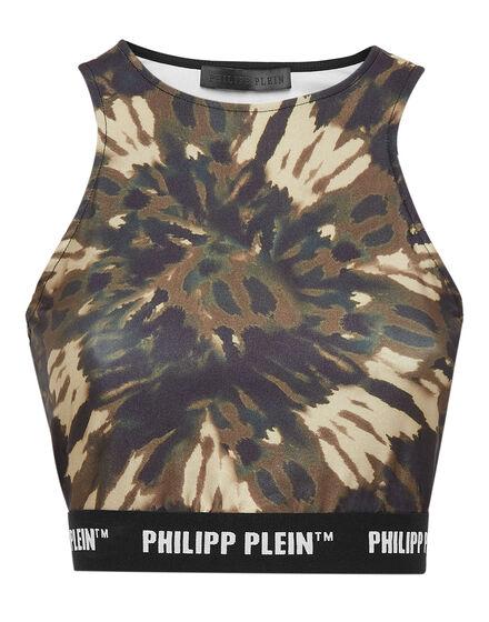 Tank Crop top Tie dye