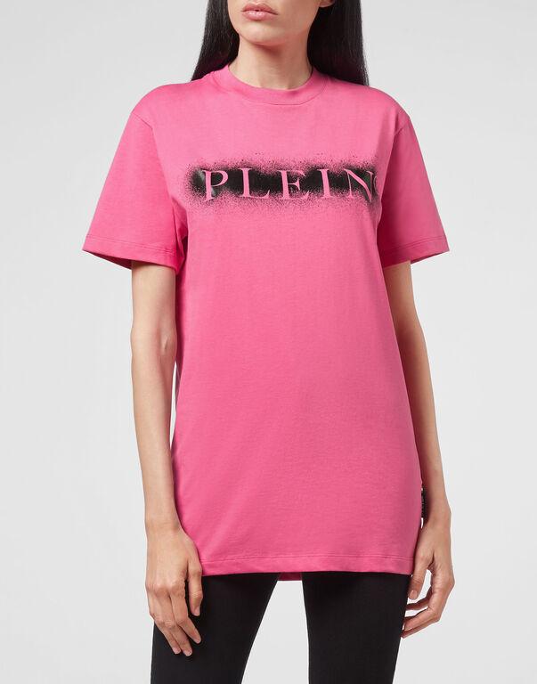 T-shirt Round Neck SS Spray Effect Print Philipp Plein TM
