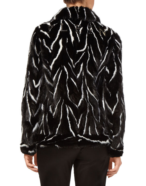 "Fur Jacket ""Black Soul"""