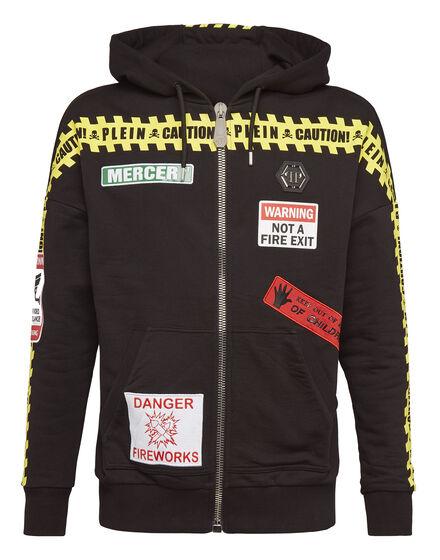 Hoodie Sweatjacket MM Warning