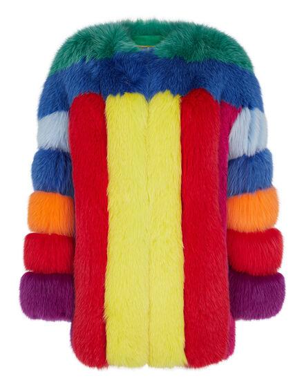Fox fur Jacket Colorful