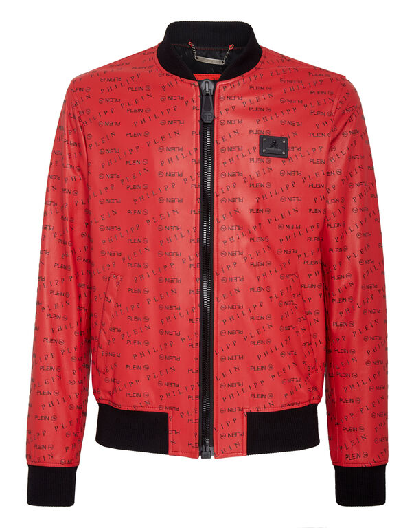 Leather Bomber All over PP