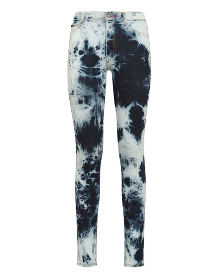 Denim High Waist Jegging Bleached