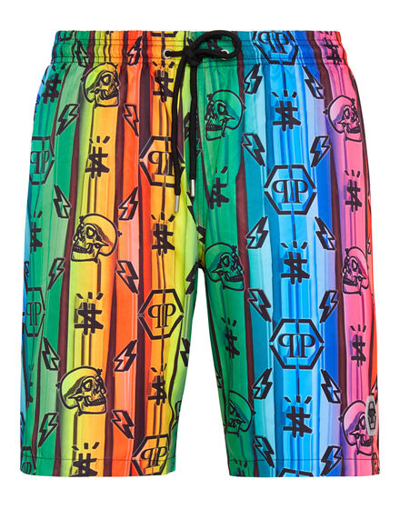 Beachwear Short Trousers Colorful Monogram