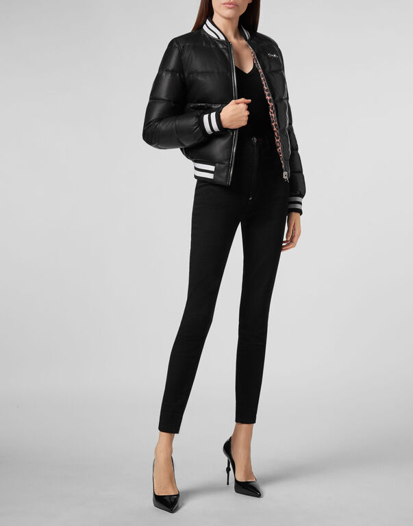 Leather Bomber Full color Puffy