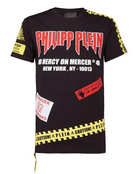 T-shirt Platinum Cut Round Neck MM Warning