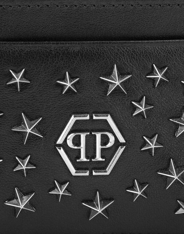 Leather Credit Cards Holder studs Stars