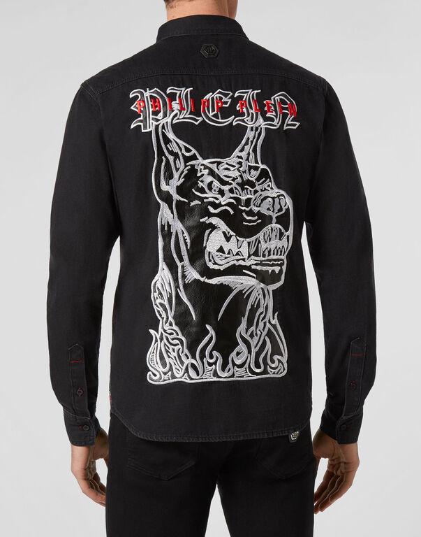 Denim Shirt Ls Gothic Plein