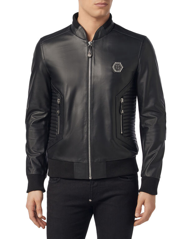 Leather Bomber