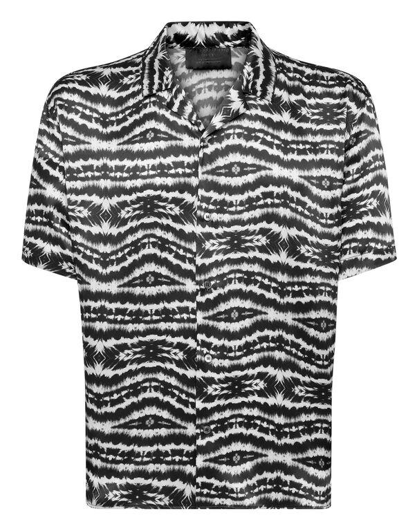 Silk Shirt Bowling SS print Tie dye
