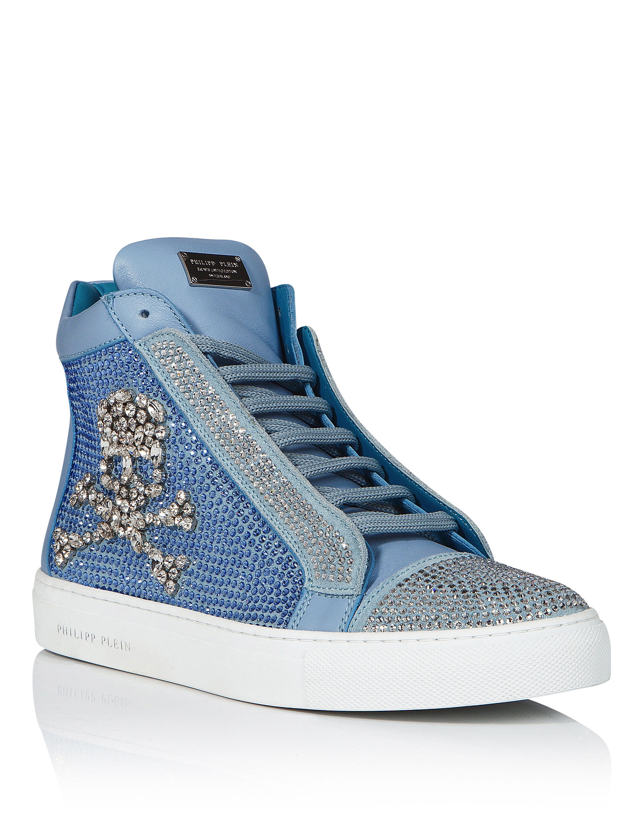 Blue Sparkly Sneakers