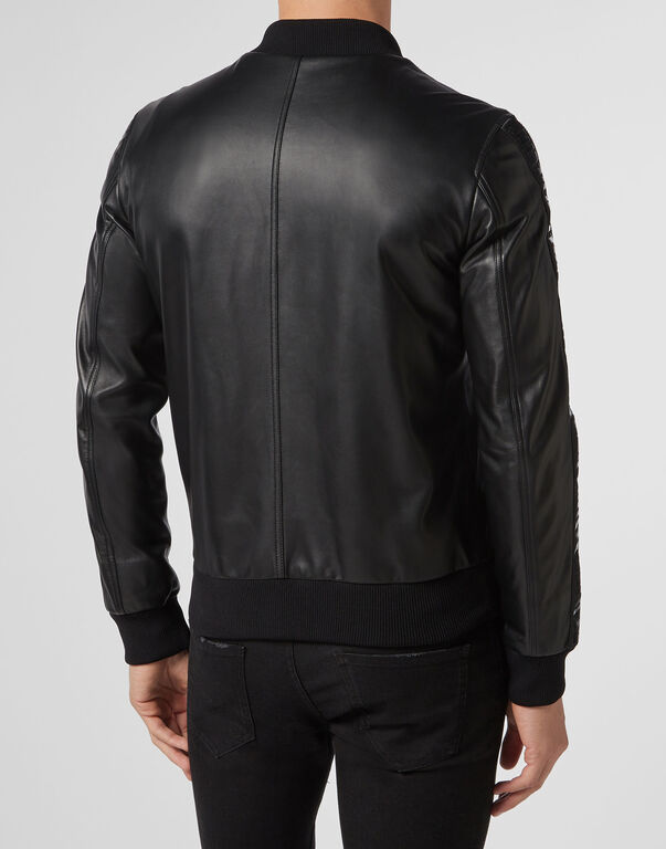 Leather Bomber Philipp Plein TM