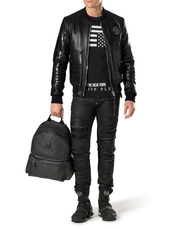 "Leather Bomber ""York"""
