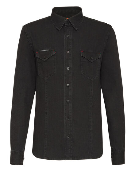 Denim Shirt Ls Gothic Plein