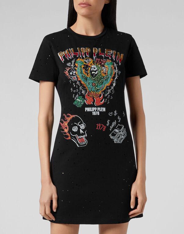 T-Shirt Short Dresses Graffiti