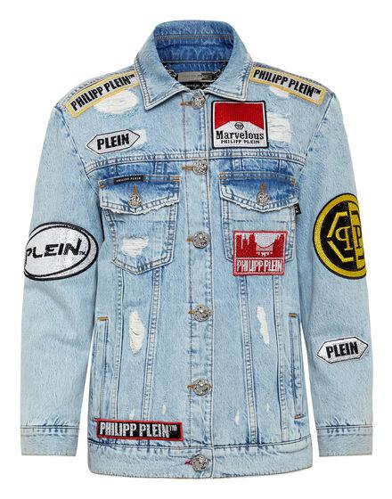 Denim Jacket stones Oversize Marvelous