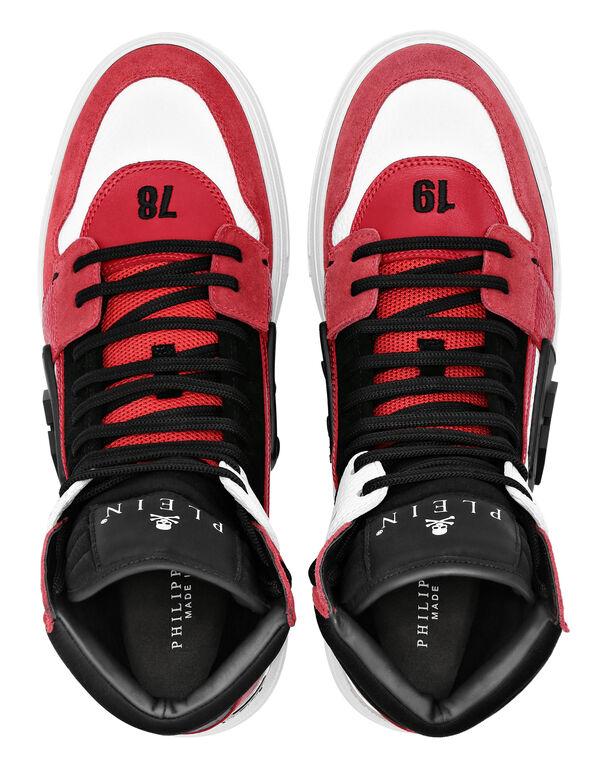 PHANTOM KICK$ mix leathers Hi-Top Sneakers