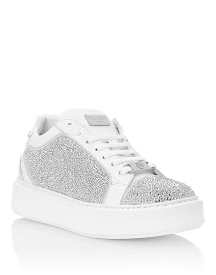 Suede Lo-Top Sneakers Crystal