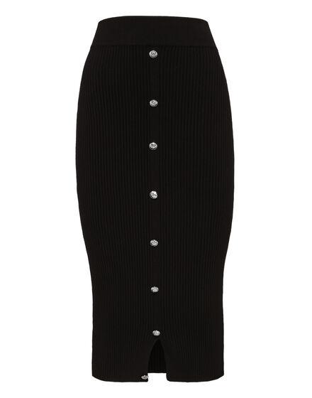 Knit Short Skirt