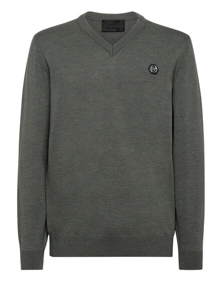 Wool Pullover V-Neck LS Istitutional