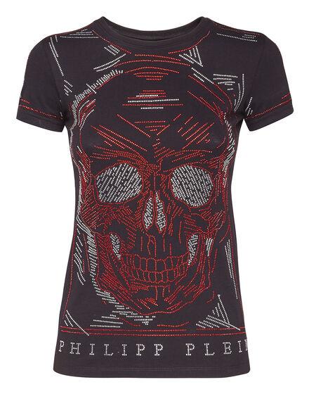 T-shirt Round Neck SS Line Skull