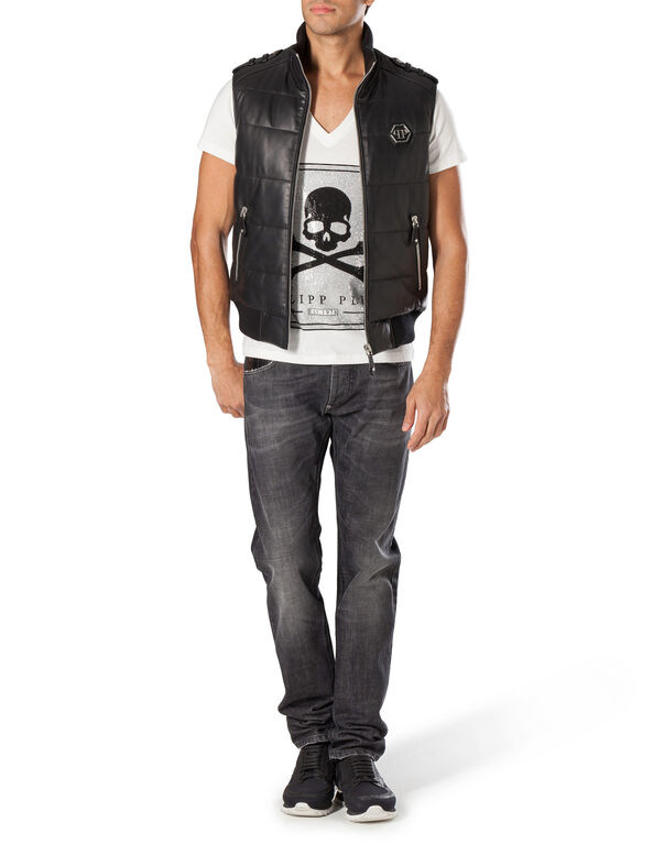 "Leather Vest Short ""Warrior"""
