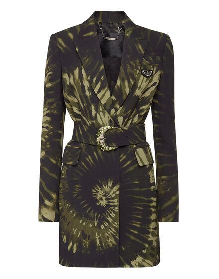 Cady Blazer Short Dress Tie dye