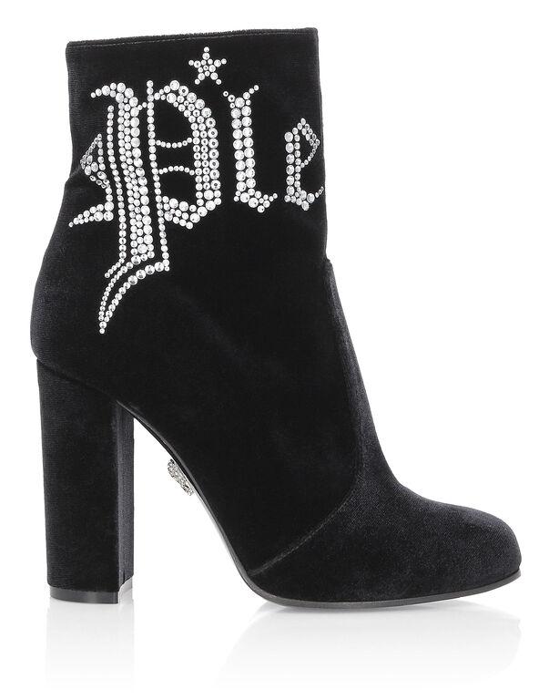 Boots Mid Heels Mid Crystal Plein