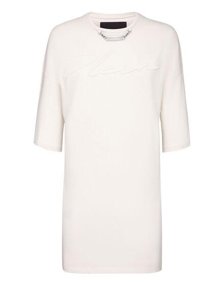 Leisurewear T-shirt Dress Embroidery Signature