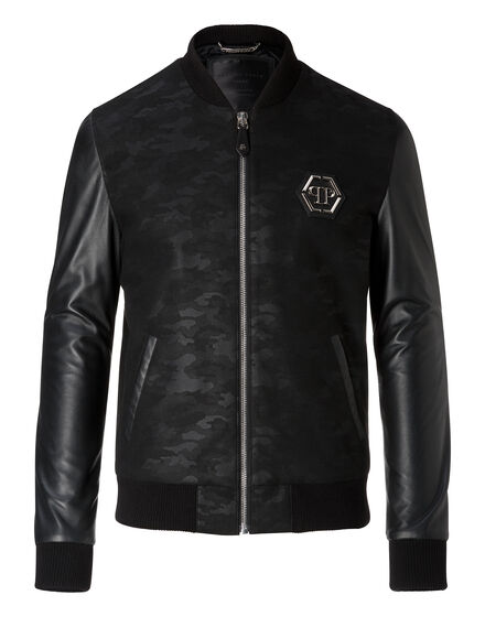 Bomber Black camou