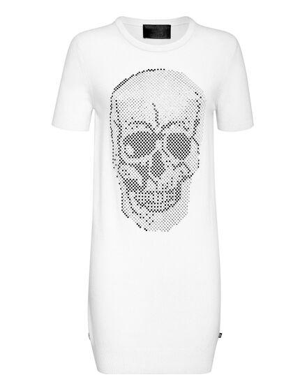 Knit  Dress Skull crystal