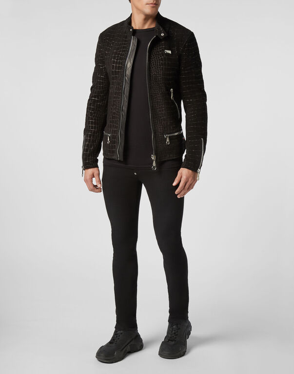 Leather Moto Jacket Statement